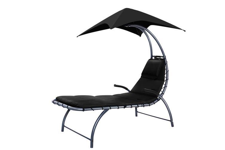 Gardeon Outdoor Sun Lounge Canopy Day Bed Sofa Garden Patio Furniture Cushion