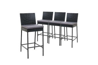 Gardeon Outdoor Bar Stool Dining Chair Bar Stools Rattan Furniture Patio X4