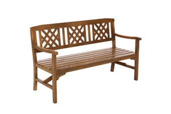 Gardeon Wooden Garden Bench 3 Seat Outdoor Chair Lounge Patio Furniture Timber