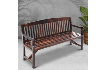 Gardeon Wooden Garden Bench 3 Seat Timber Outdoor Chair Patio Furniture Lounge