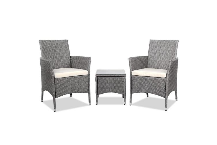 Gardeon Patio Furniture Outdoor Setting Bistro Set Chair Side Table 3 Piece