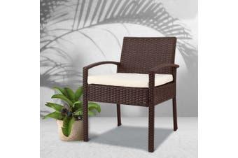 Gardeon Outdoor Rattan Chair - Brown