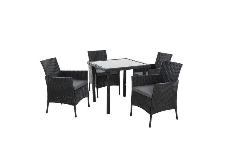 Outdoor Dining Set Table Chairs Patio Furniture Wicker Rattan Setting