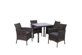Outdoor Dining Set Patio Furniture Wicker Setting Table Dining Chair 5PC