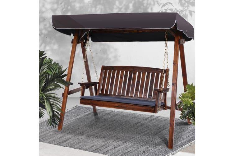 Heavy Duty Counter Stools, Gardeon Wooden Swing Chair Garden Bench Canopy 3 Seater Outdoor Furniture Kogan Com