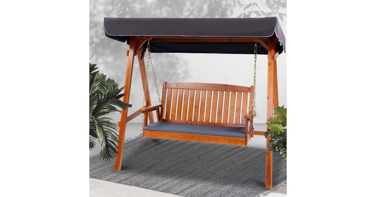 Gardeon Wooden Swing Chair Garden Bench