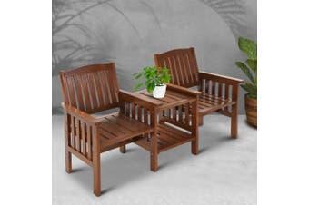 Gardeon Wooden Garden Bench Chair Table Loveseat  Outdoor Furniture Patio Park
