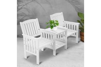 Gardeon Wooden Garden Bench Seat Table Loveseat Patio Park Outdoor Furniture