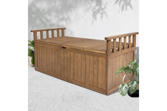 Gardeon Outdoor Storage Box Wooden Garden Bench 128.5cm Chest Tool Toy Sheds XL