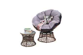 Gardeon Outdoor Lounge Setting Furniture Papasan Chairs Table Wicker Patio Sofa