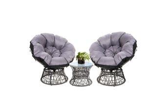 Gardeon Outdoor Lounge Setting Furniture Papasan Chair Table Wicker Sofa Garden