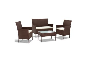 Gardeon Garden Furniture Outdoor Lounge Setting Rattan Set Patio Chairs Table
