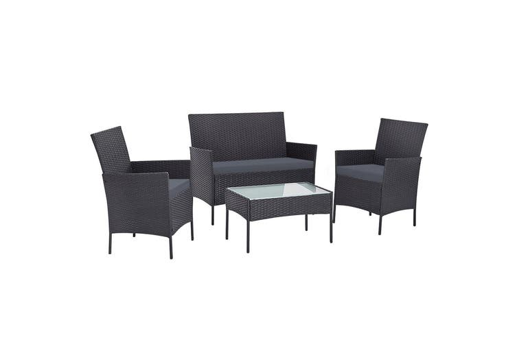 Gardeon Garden Furniture Outdoor Lounge Setting Wicker Sofa Set Patio 4 Piece
