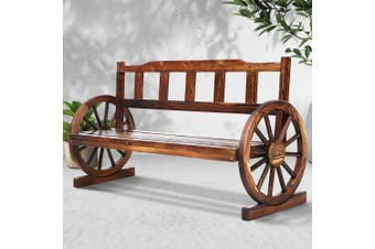 Gardeon Wooden Wagon Garden Bench 3 Seat Outdoor Chair Lounge Patio Furniture