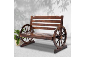 Gardeon Wooden Wagon Garden Bench Seat Outdoor Chair Patio Furniture Lounge