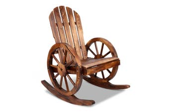 Gardeon Wooden Wagon Rocking Chairs Recliner Outdoor Furniture Patio Garden