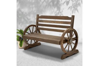 Gardeon Wooden Wagon Garden Bench Seat Outdoor Chair Lounge Patio Furniture