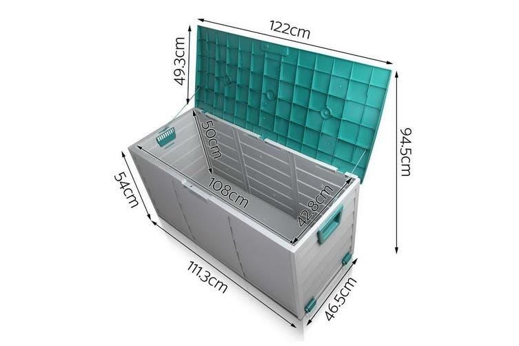 290L Outdoor Storage Lockable Box Weatherproof Garden Toy DeckShed Green