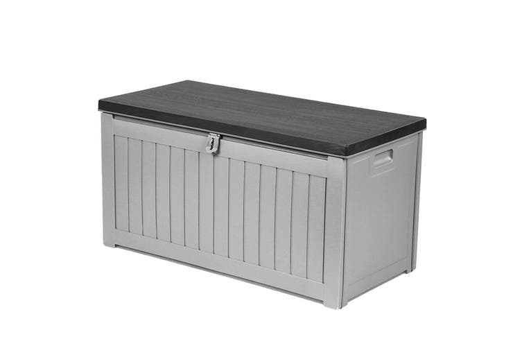 Outdoor Storage Box Bench Seat Lockable Garden Deck Toy Tool Sheds 190L
