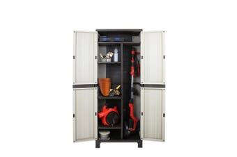 Outdoor Storage Cabinet Lockable Cupboard Tall Garden Sheds Garage Adjustable