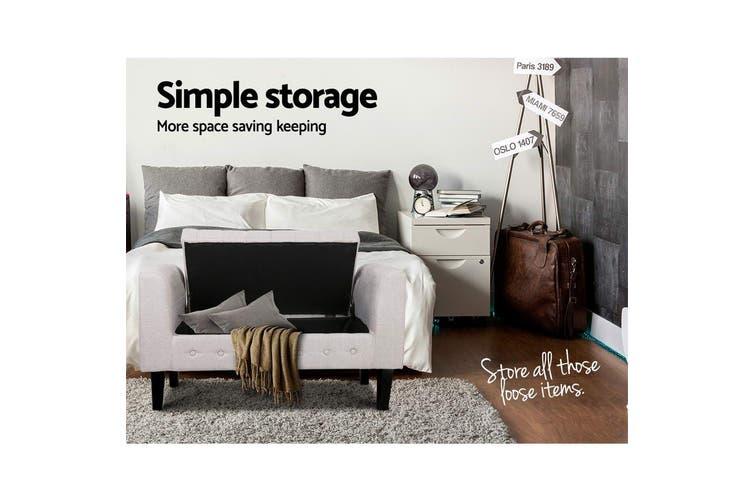 Artiss Multi Function Storage Ottoman Bench Seat Cushion Foot stool Armrest Design Blanket Box BEIGE