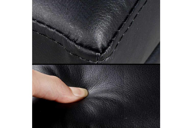 Artiss Faux PU Leather Black Storage Ottoman Chest Bench Foot Stool Seat Lift Up Lid Blanker Box