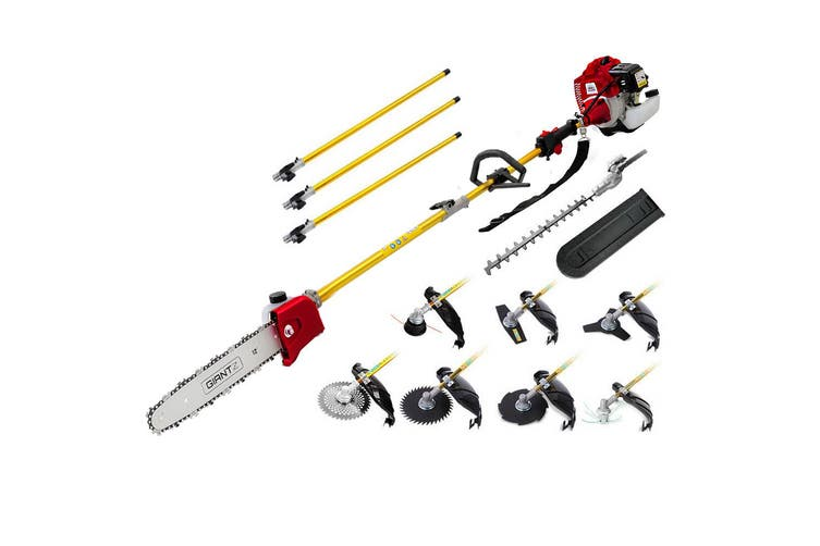 Giantz Petrol Pole Chainsaw Pruners 4 Stroke Long Chainsaws 75cc Tree Hedge trimmer Brush Cutter Chain Saw Whipper Snipper Multi Tool