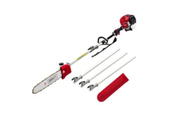 Giantz Petrol Pole Chainsaw Pruners 4 Stroke Long Chainsaws 65cc Hedge trimmer Brush Cutter Chain Saw Whipper Snipper Multi Tool