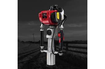 Giantz Post Driver Petrol Powered Fence Rammer 4 Stroke Fencing Farming Construction Bonus Carry Case