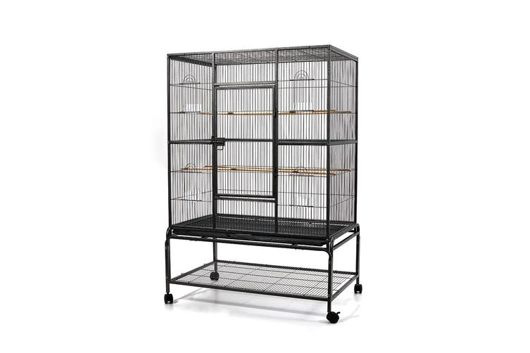 i.Pet Bird Cage Pet Cages Aviary 137CM Large Travel Stand Budgie Parrot Toys