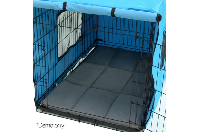 i.Pet 42inch Metal Collapsible Pet Cage Cushion - Black