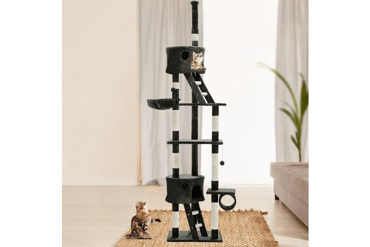 i.Pet Cat Tree 260cm Trees Scratching Post Scratcher Tower Condo House Furniture Wood