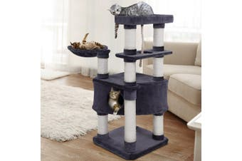 i.Pet Cat Tree 137cm Trees Scratching Post Scratcher Tower Condo House Furniture Wood Extra Large