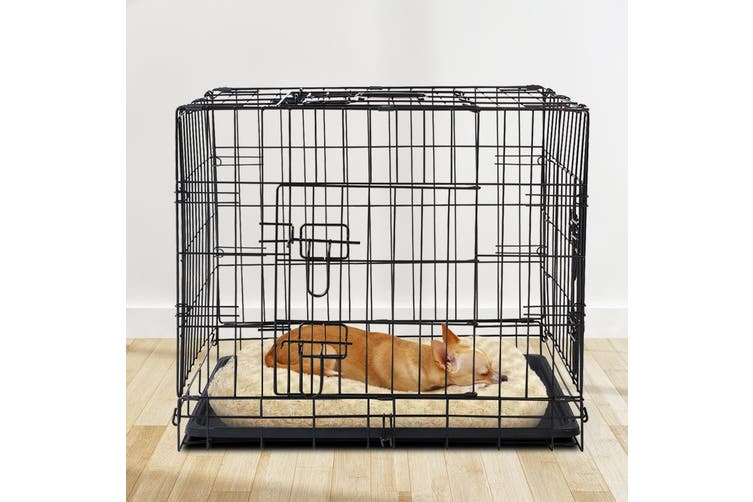 """i.Pet  24"""" Dog Cage Pet Crate Puppy Cat Foldable Metal Kennel Portable 3 Doors"""