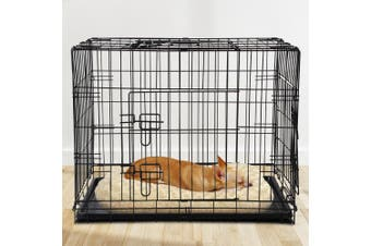"""i.Pet  30"""" Dog Cage Pet Crate Puppy Cat Foldable Metal Kennel Portable 3 Doors"""