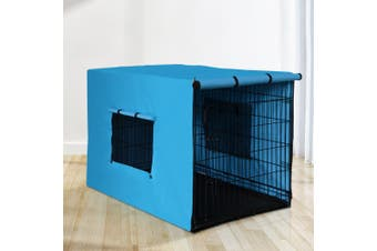 """i.Pet  42"""" Dog Cage With Cover Pet Crate Kennel Folding Collapsible Portable"""