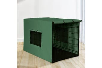"""i.Pet  42"""" Dog Cage With Cover Pet Crate Kennel Folding Collapsible Portable G"""