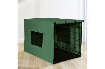 """i.Pet  48"""" Dog Cage With Cover Pet Crate Kennel Folding Collapsible Portable G"""