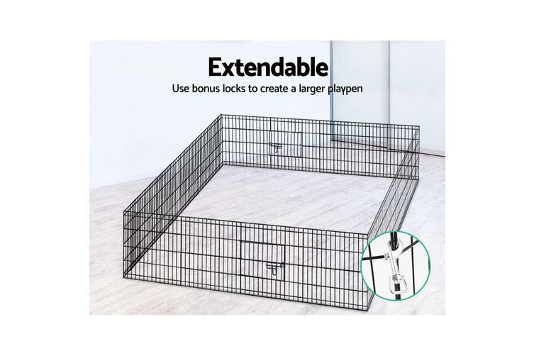 i.Pet  8 Panel Pet Dog Playpen Puppy Exercise Cage Enclosure Fence Play Pen