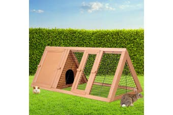 i.Pet Rabbit Hutch Run Metal Wooden Cage House Chicken Coop  Large