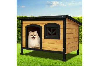 i.Pet Dog Kennel Kennels Outdoor Wooden Pet House Cabin Puppy Large L