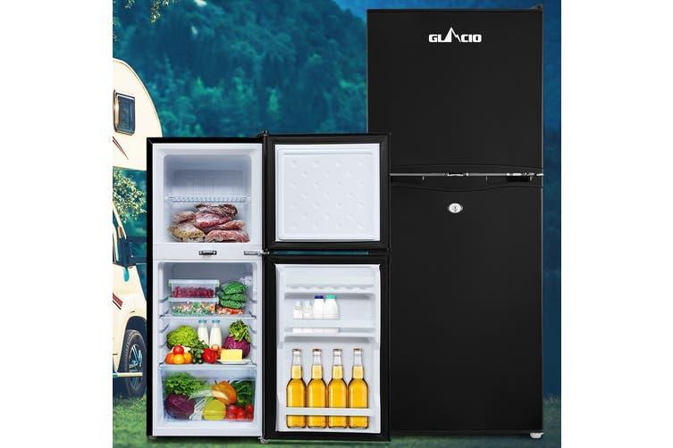 Glacio 120L Portable Fridge Bar Freezer Cooler Upright 12V/24V/240V Caravan Car