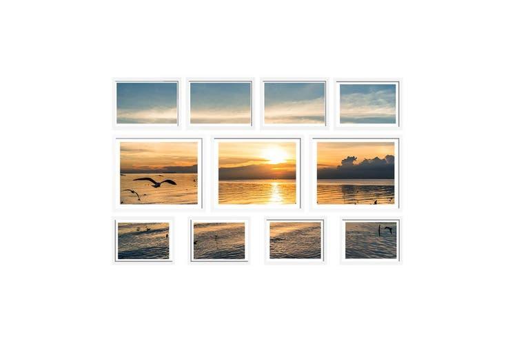 Photo Frames Set (White) 11PCS Frame Digital Photos DIY Wall Collage Picturte Hanging Art Home Dcor Family Wedding Present Gift