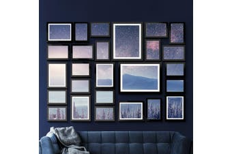 Photo Frames Set (Black) 26PCS Frame Digital Photos DIY Wall Collage Picturte Hanging Art Home Dcor Family Wedding Present Gift