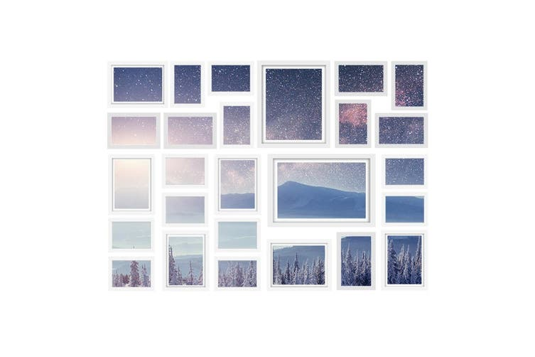 Photo Frames White Picture Frame Set Wall Hanging Home Decor Gift Present 26PCS