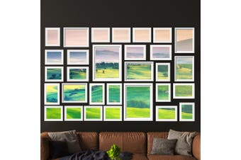 Artiss Photo Frames Collage White Picture Frame Set Wall Hanging Set Home Decor Gift Present 30PCS