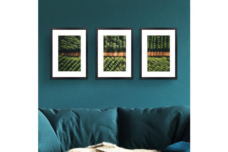Photo Frames Set Collage Black Picture Frame Wall Hanging Home Decor Present Gift 3PCS