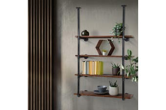 Artiss Industrial DIY Pipe Shelf Rustic Floating Wall Display Shelves Brackets