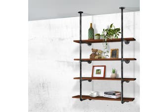 Artiss Wall Shelves Display Bookshelf Industrial DIY Pipe Shelf Rustic Brackets