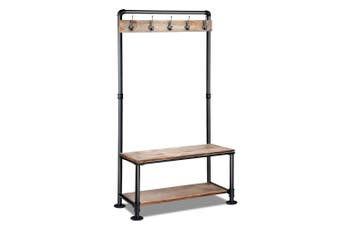Artiss Industrial Pipe Clothes Rack Coat Stand Garment Organiser Hanger Retro Shelf Shelves Display